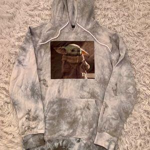 Star Wars Hoodie Sweatshirt Baby Yoda